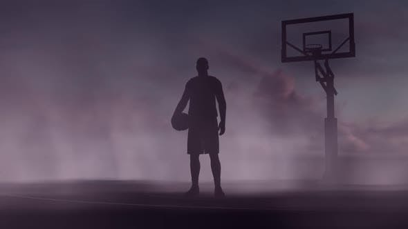 Thumbnail for Basketball court and player