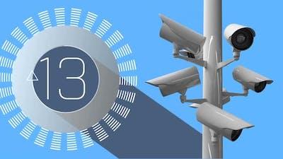 CCTV camera and countdown