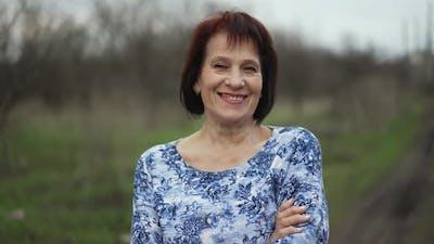 Portrait of Smiling Elderly Woman