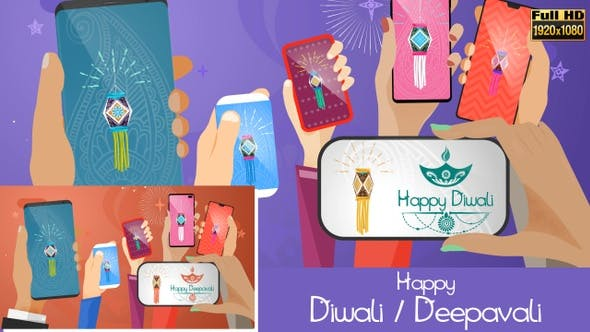 Thumbnail for Happy Diwali / Deepavali - Smartphones Social Share