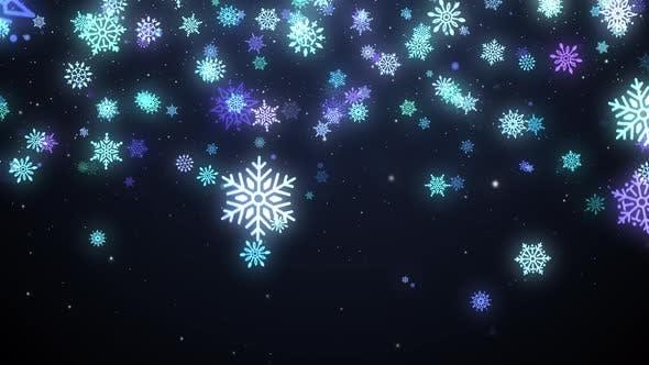 Thumbnail for Snowflakes Background 4K