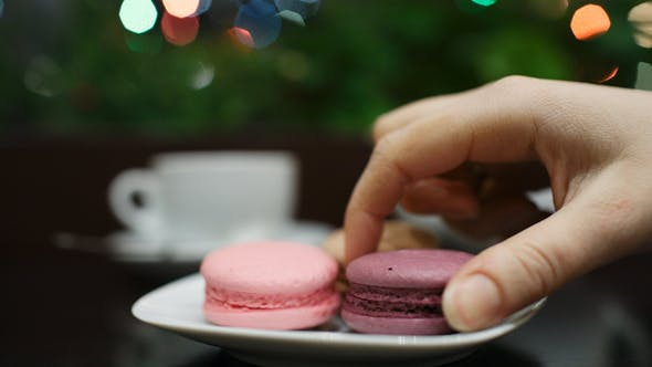 Thumbnail for Tea with Macaroons in Cafe 2