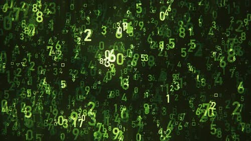Green Flying Numbers