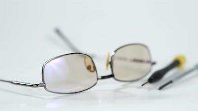 Fashion Eyeglasses Isolated on White