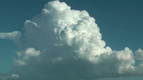 White Rain Clouds And Blue Sky 2