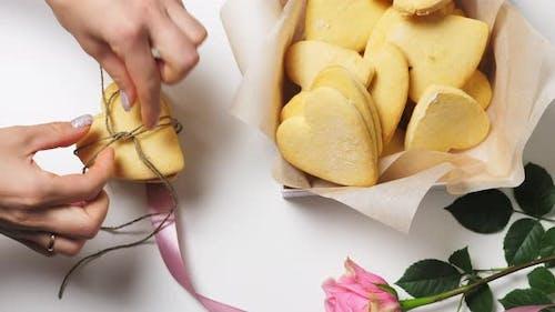 Valentinstag Herz-Plätzchen
