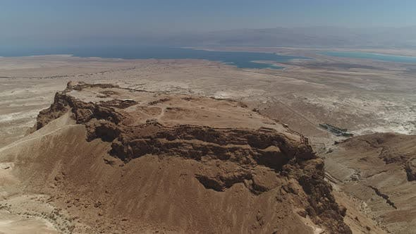 Thumbnail for Aerial view showing Masada