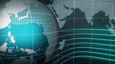 3D World News Background Loop
