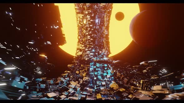 Vj Loop Spaceship in the Form of a Torus Flies Into a New World