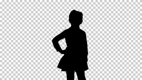 Thumbnail for Silhouette Little girl, Alpha Channel
