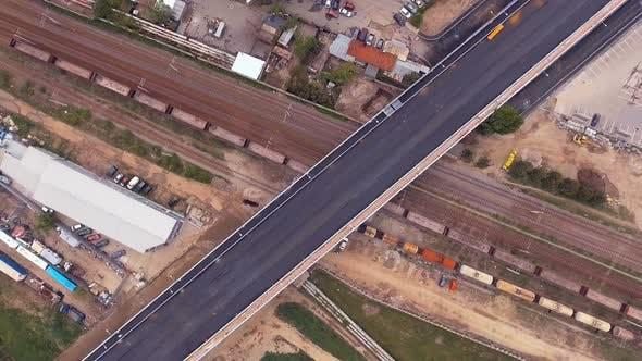Thumbnail for Cargo Train Traveling On Railway Tracks