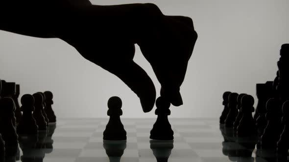 Thumbnail for Hand And Chess Silhouette 55