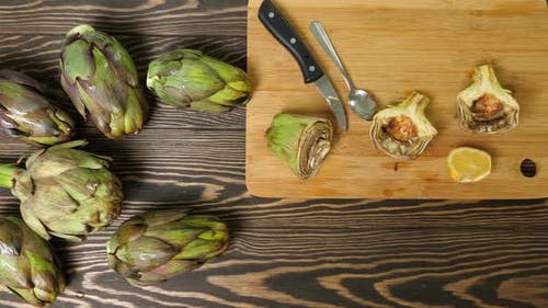 Cleaning Artichokes