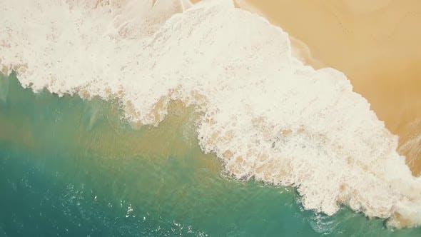 Aerial Beach Waves