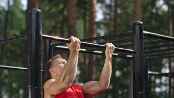 Thumbnail for Athletic man Doing Chin Ups