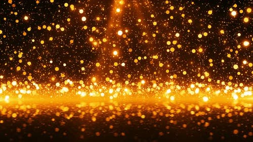 Glitter Gold Particles 4K