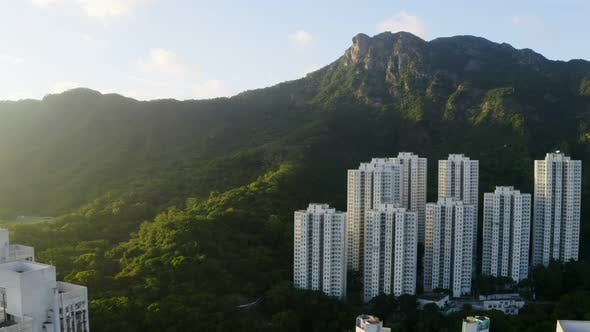 Thumbnail for lion rock mountain in Hong Kong at evening time