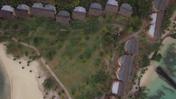 Thumbnail for Aerial View of Coast Line and Hotels District of Mauritius Island