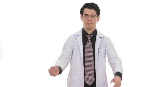 Cover Image for Portrait of Man Doctor Isolated Against White Background