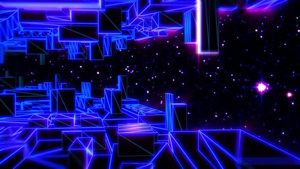 Retrofuturistic lowpoy space station