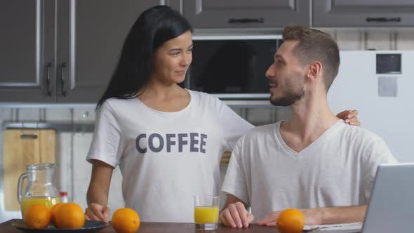 Cover Image for Portrait of Happy Couple on Breakfast