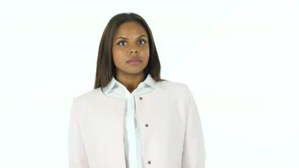Cover Image for Afro-American Woman in Shock, White Background