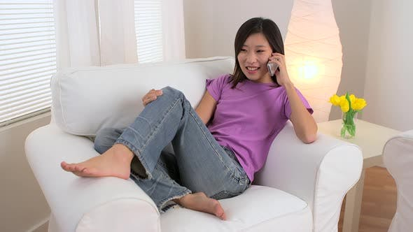Thumbnail for Chinese woman talking on the phone