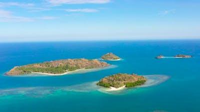 Tropical Islands and Blue Sea