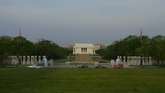 Thumbnail for National World War II Memorial, Lincoln Memorial in Background 07B