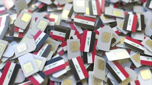 Cover Image for Multiple SIM Cards with Flag of Iraq