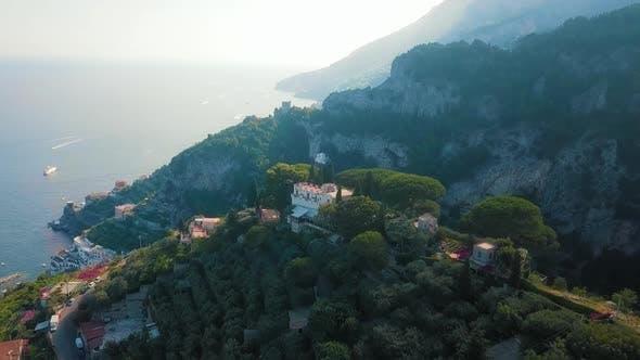 Thumbnail for A Romantic Scene at Ravello and Atrani Aerial, Amalfi Coast
