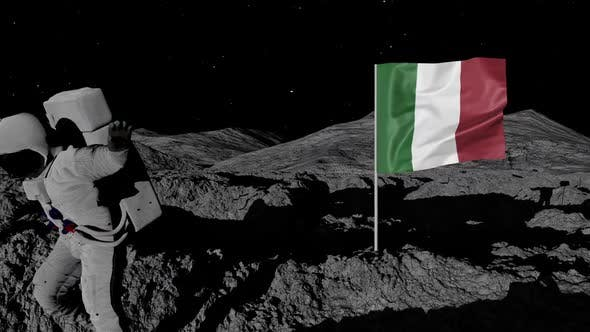 Thumbnail for Astronaut Planting Italy Flag on the Moon