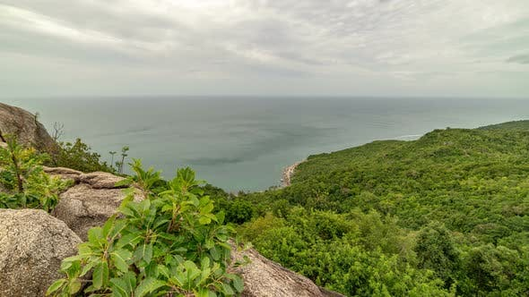 Thumbnail for Rocks and stones at the tropical mountains with sea views, Koh Phangan, Thailand