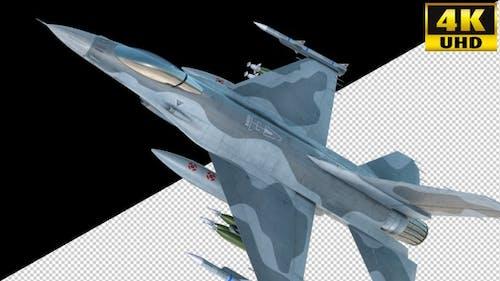 Combat Jet Fighter On Alpha Channel Loops V1