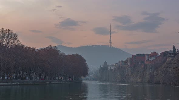 Thumbnail for Beautiful timelapse shooting of Old Tbilisi. Shot from Kura river to Tbilisi tv tower.