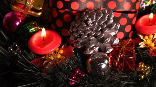Thumbnail for Christmas Decoration On Candle Lights