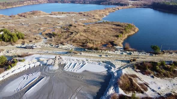 Sand Quarry Lake Forest Aerial View