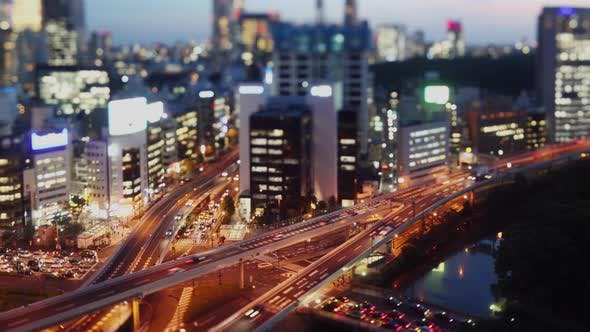 Thumbnail for Time Lapse of traffic and buildings of Tokyo Japan