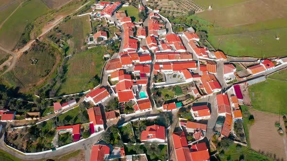 Thumbnail for Aerial View Red Tiled Roofs Typical Village