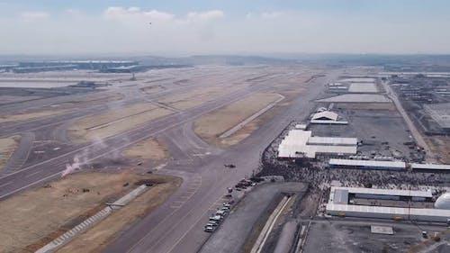 Aviation Festival Airport Parachutes Landing