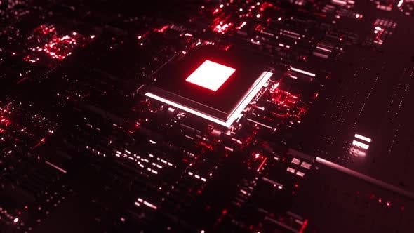 Glowing Chip on PCB