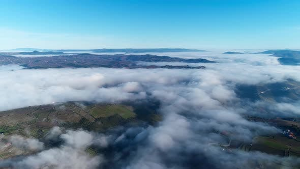 Spectacular Landscape Above the Clouds