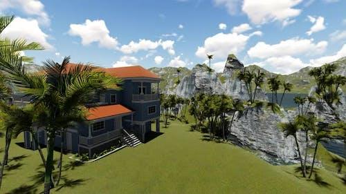 Das Haus ist von oben gesehen