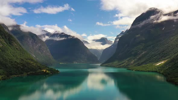 Thumbnail for Beautiful Nature Norway Natural Landscape Lovatnet Lake
