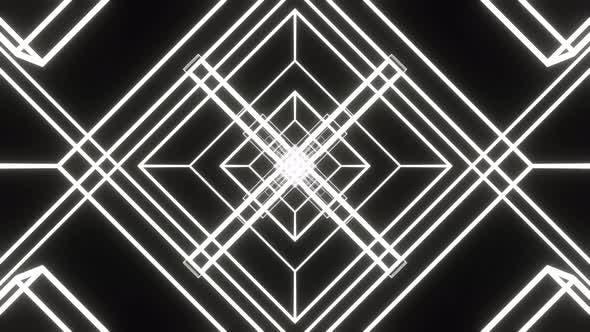 Rotating White Rectangles 4K