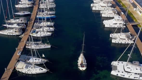 Thumbnail for Istanbul Maltepe Bosphorus Aerial View Marina And Yachts