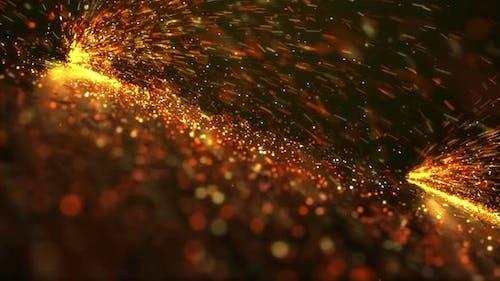 Fire Sparkle Background