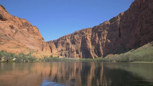Thumbnail for Colorado River and cliffs