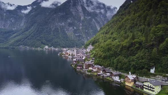 Beautiful Panorama of City Hallstatt in Austria