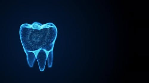 Isolated Rotating Tooth Costructed with Glowing Points